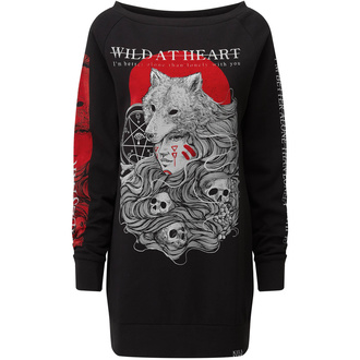 Women's dress KILLSTAR - Wild At Heart - BLACK - KSRA001865