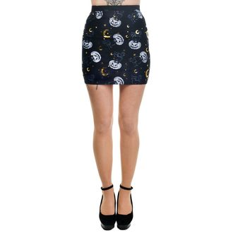 Skirt Women's TOO FAST - MERCY - HAL LOWEEN CAT & PUMPKINS - WSKMR-T-CAT