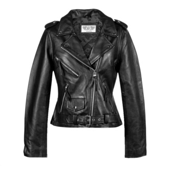 Women's jacket NEW ROCK - LDS MBF Black COW ANILINE BLACK - W.NRLWJ006-S3