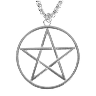 Pendant necklace Pentagram, FALON