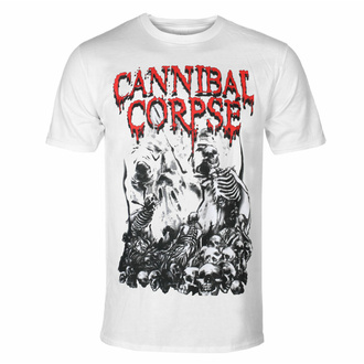 Men's t-shirt CANNIBAL CORPSE - PILE OF SKULLS - WHITE, PLASTIC HEAD, Cannibal Corpse
