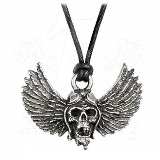 Pendant Necklace Airbourne - Skull / Wings - ALCHEMY GOTHIC - PP513
