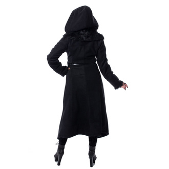 Women's coat POIZEN INDUSTRIES - AMBELIN - BLACK, POIZEN INDUSTRIES