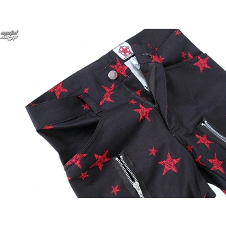 pants men Black Pistol - Two Leg Pants Stars - Black / Red