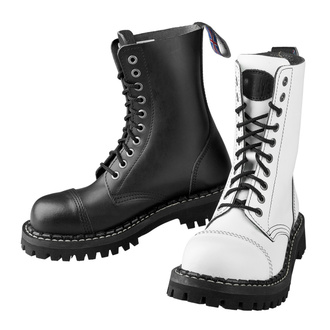 boots STEADY´S - 10 eyelets - Black and white - STE/10_black/white