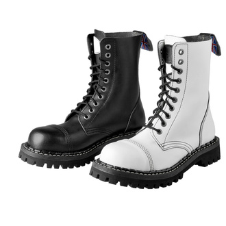 boots STEADY´S - 10 eyelets - Black and white, STEADY´S