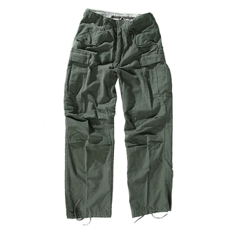 pants men M65 Pant NyCo washed - OLIV - 200201