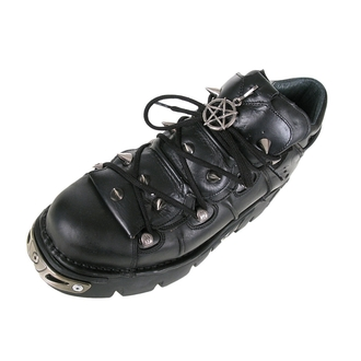 boots leather - Prick Shoes (110-S1) Black - NEW ROCK