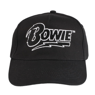 Cap DAVID BOWIE - LOGO - BLACK - LIVE NATION, LIVE NATION, David Bowie