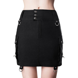 Women's skirt KILLSTAR - Commodore Cargo - BLACK - KSRA001701