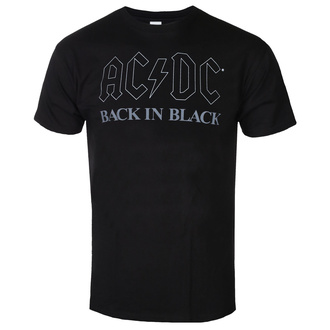 Men's t-shirt AC/DC - Back In Black - BL - ROCK OFF, ROCK OFF, AC-DC