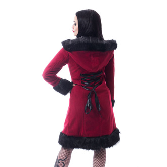 Women's coat POIZEN INDUSTRIES - DARK MASE - RED, POIZEN INDUSTRIES