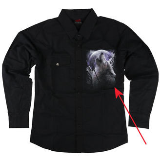 Men's shirt with long sleeves SPIRAL - WOLF SOUL - DAMAGED, SPIRAL