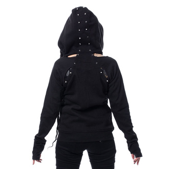 hoodie women's - EVIE - CHEMICAL BLACK, CHEMICAL BLACK