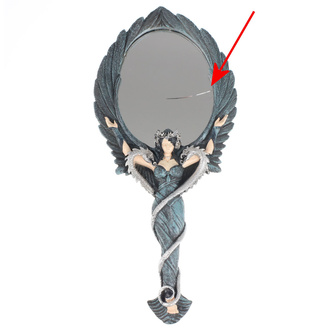 Mirror Alchemy Gothic - Black Angel Hand Mirror - DAMAGED, ALCHEMY GOTHIC