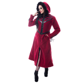 Women's coat CHEMICAL BLACK - FINAL - RED - POI973