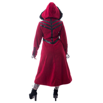 Women's coat CHEMICAL BLACK - FINAL - RED, CHEMICAL BLACK