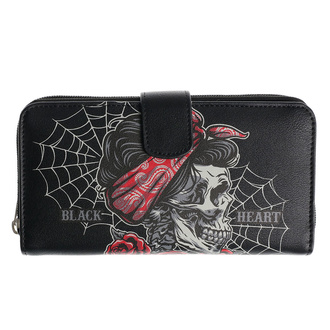 Wallet BLACK HEART - PIN UP SKULL - 8072
