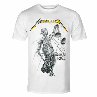 Men's t-shirt METALLICA - AND JUSTICE FOR ALL - WHITE - PLASTIC HEAD - PHDMTLTSWJUS