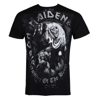 t-shirt metal men's Iron Maiden - Number Of The Beast - ROCK OFF - IMTEE08MB