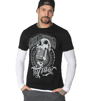 Men's shirt with a long sleeve HYRAW - EVIL RECORD - FW20-M09-LST
