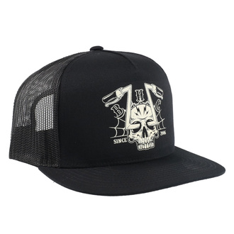 Cap BLACK HEART - CHOPPER SKULL - BLACK, BLACK HEART