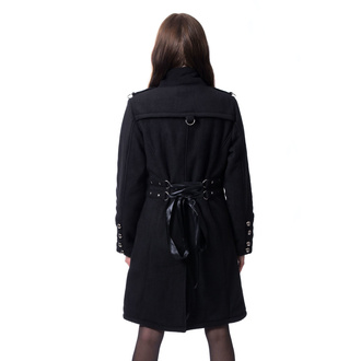 Women's coat POIZEN INDUSTRIES - KARRI - BLACK, POIZEN INDUSTRIES