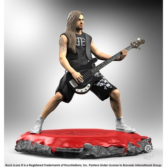 Figure Pantera - Rock Iconz Statue - Rex Brown, KNUCKLEBONZ, Pantera