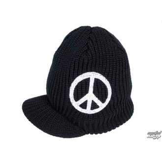 beanie with peak Peace 1 - ZAKR