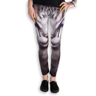 pants women (leggings) SPIRAL - CAT'S TEARS - Black - D070G456