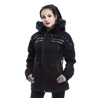 Women's jacket POIZEN INDUSTRIES - LOVISA - BLACK, POIZEN INDUSTRIES