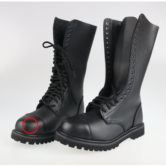 Leather boots 20-hole BRANDIT - Phantom Black - 9004/2 - DAMAGED - MA471