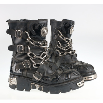 Shoes New rock - Chain Boots (727-S1) Black - DAMAGED - MA477