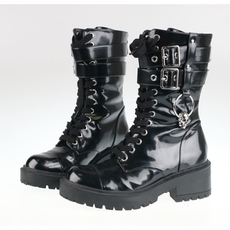 Women's boots KILLSTAR - Bones O-Ring - BLACK - KSRA002050 - DAMAGED - MA479