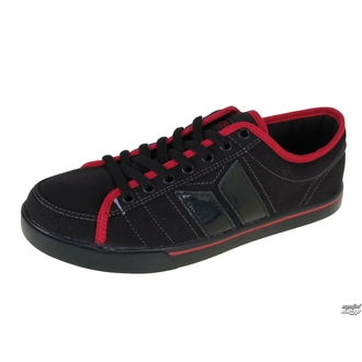low sneakers men's - Manchester - MACBETH - BLACK/RED/TRON