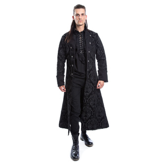 Men's coat POIZEN INDUSTRIES - MONARCH - BLACK BROCADE, POIZEN INDUSTRIES