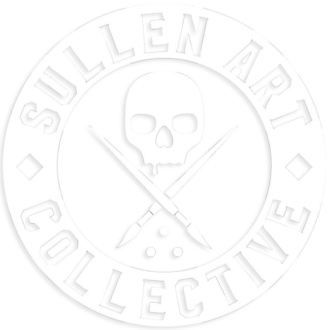 Sticker (large) SULLEN - BOH DIE CUT STICKER 6 IN - WHITE, SULLEN