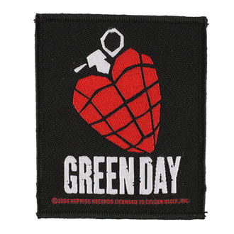 patch GREEN DAY - HEART GRENADE 1 - RAZAMATAZ, RAZAMATAZ, Green Day