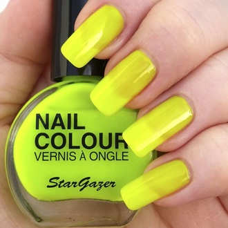 Nail polish STAR GAZER - Neon Yellow, STAR GAZER