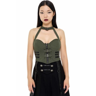 Women's top by KILLSTAR - Night Patrol - KHAKI - KSRA002425
