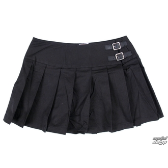 skirt women's Black Pistol - Buckle Mini Denim - Black - B-2-48-001-00