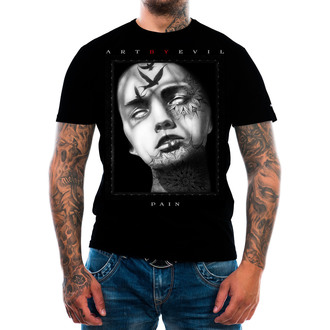 t-shirt men's - Pain - ART BY EVIL, ART BY EVIL