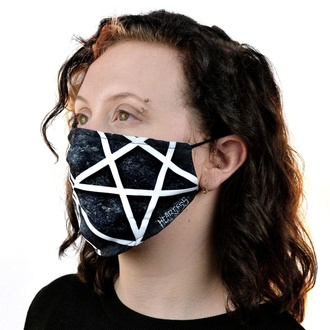 veil (mask) HEARTLESS - PENTAGRAM - BLACK, HEARTLESS