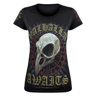 t-shirt women VICTORY OR VALHALLA - CROW SKULL, VICTORY OR VALHALLA