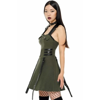 Women's dress KILLSTAR - Psy-Ops - KHAKI, KILLSTAR
