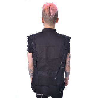 Men's vest Chemical Black - RAFI - BLACK, CHEMICAL BLACK