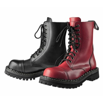 boots STEADY´S - 10 eyelets - Black red, STEADY´S