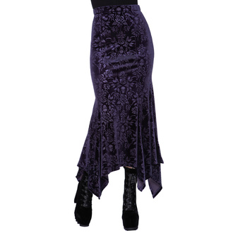Women's skirt KILLSTAR - Roses Are Dead Velvet Maxi - PLUM - KSRA002560