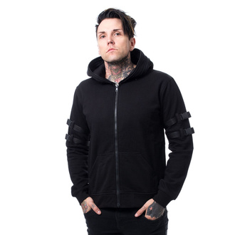 hoodie men's - RYKER - CHEMICAL BLACK, CHEMICAL BLACK