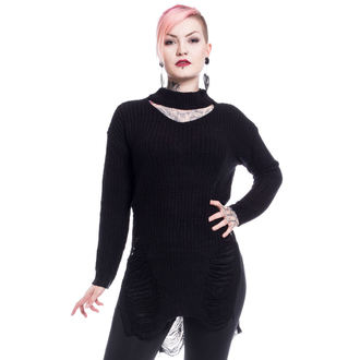 Sweater women's Vixxsin - SLIT NECK DECAY - BLACK - POI490